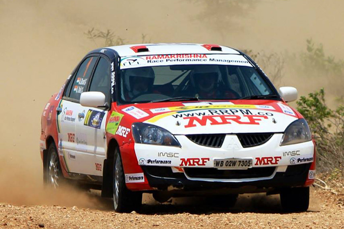 inrc ghosh leads   day  motorsport news race reports autocar india
