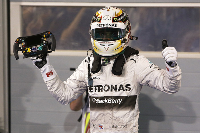 F1 Bahrain: Hamilton wins, Force India on podium