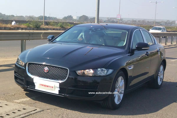 Jaguar XE spied in India ahead of Auto Expo 2016 launch