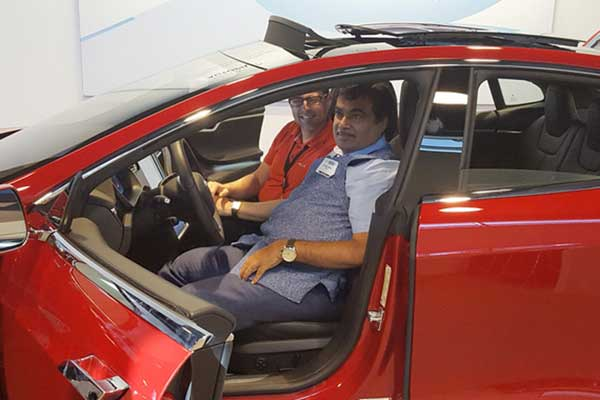 Nitin Gadkari offers land to Tesla to set up production facility in India