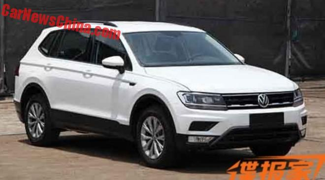 Seven-seat Volkswagen Tiguan XL spied