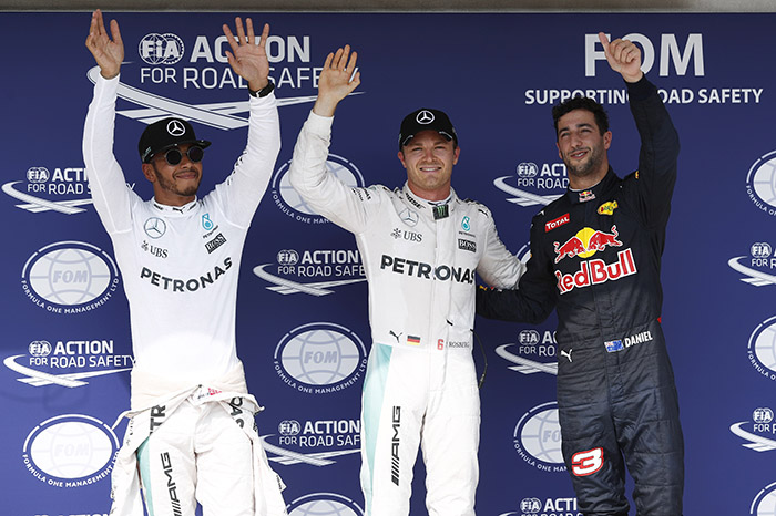F1: Rosberg snatches Hungary pole in wild session