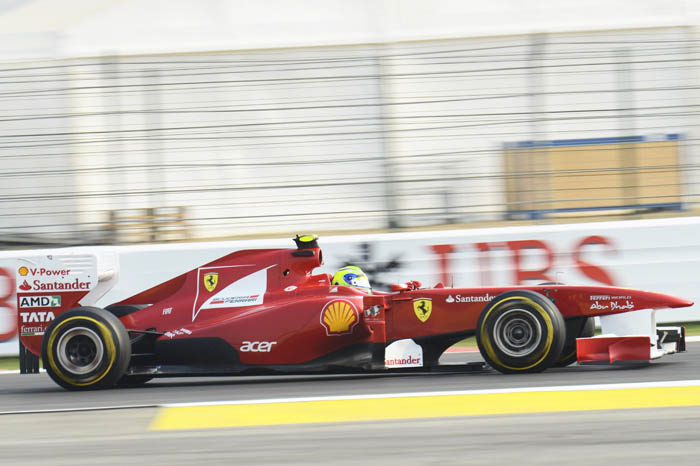 Massa topped the second practice session for Ferrari, the first time he led a session after Silverstone earlier in the season.