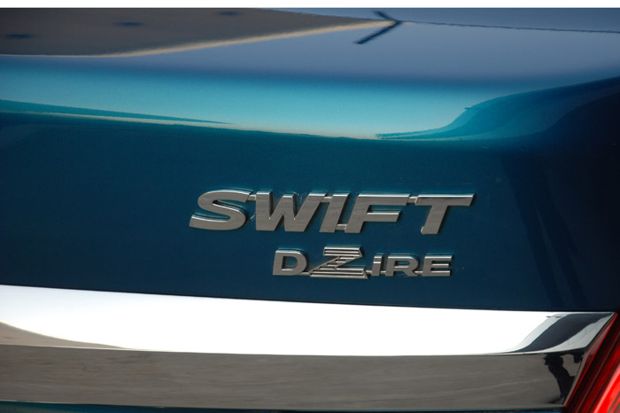 The Dzire shares suspension hardware with the Swift, though the rear has been tuned for comfort.
