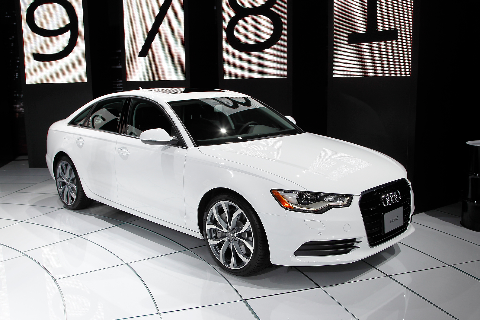 Audi showcased its diesel a6 at the show