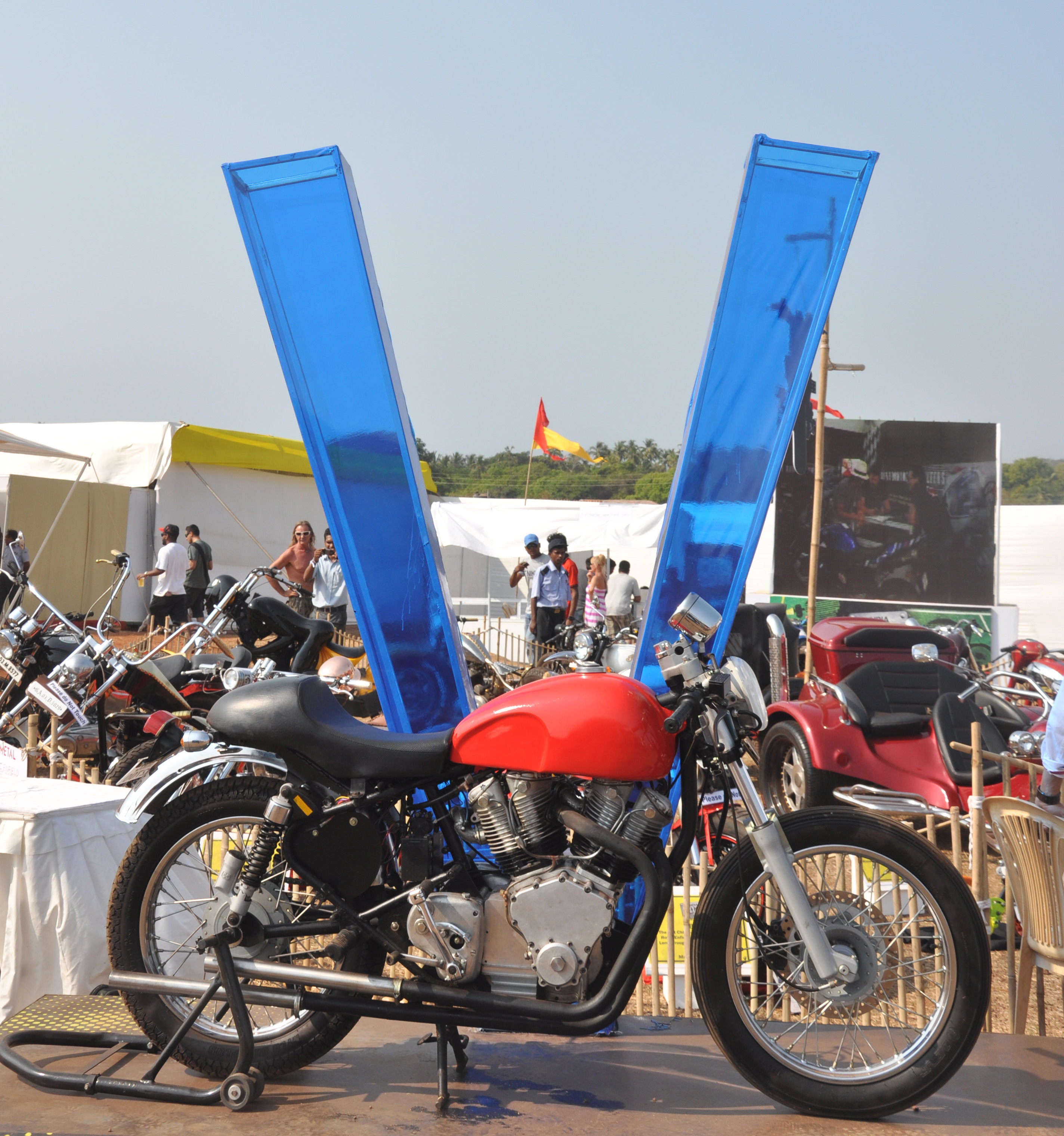 The Royal Enfield V-twin built by Anand Bhalerao and Dean Fernandes.
