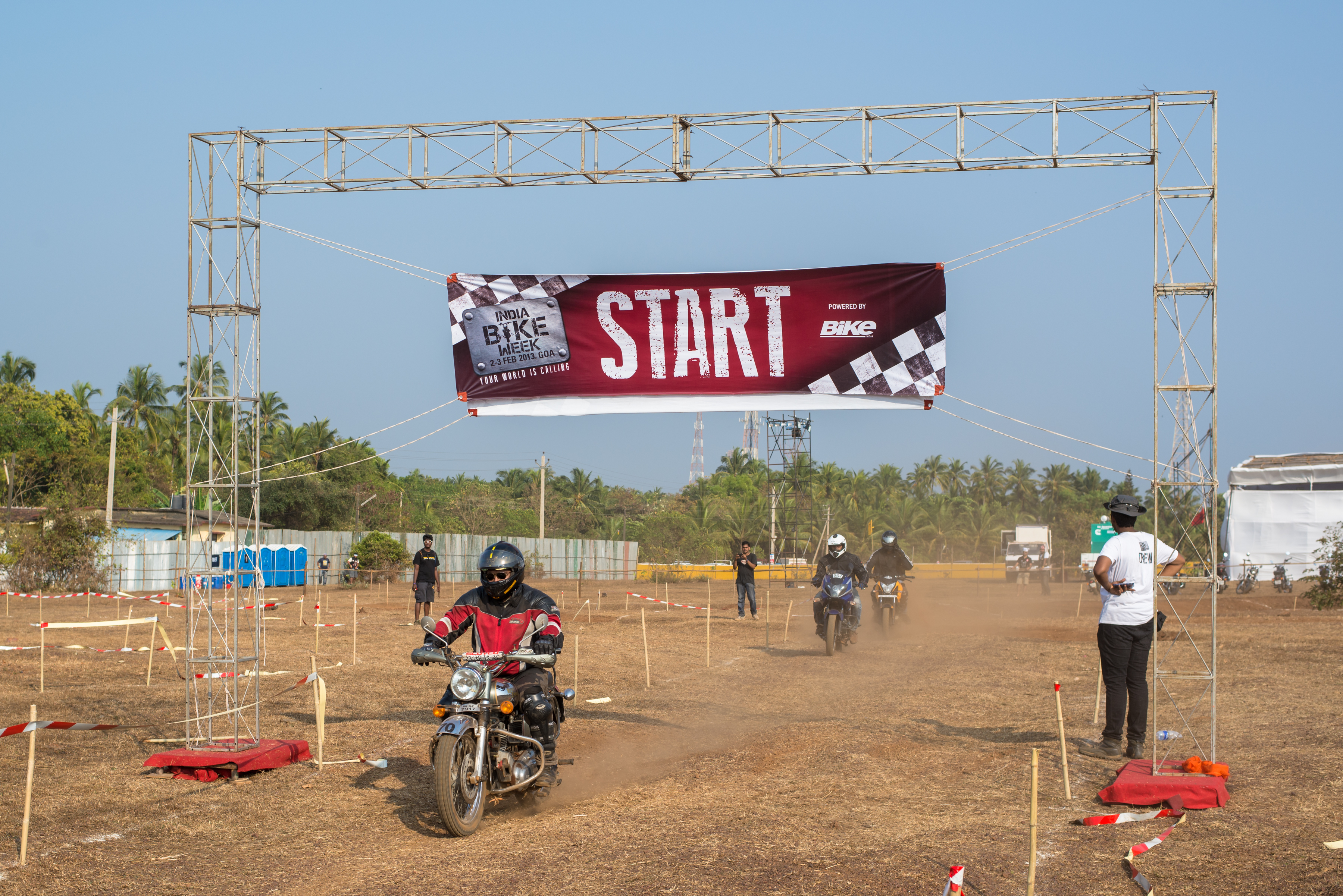 One of the most popular events at the festival was the dirt track races.