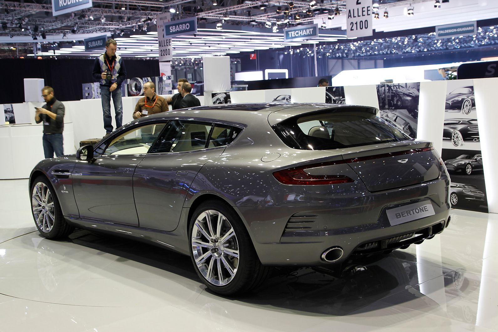 Bertone Jet 2+2 is based on an Aston Martin Rapide.