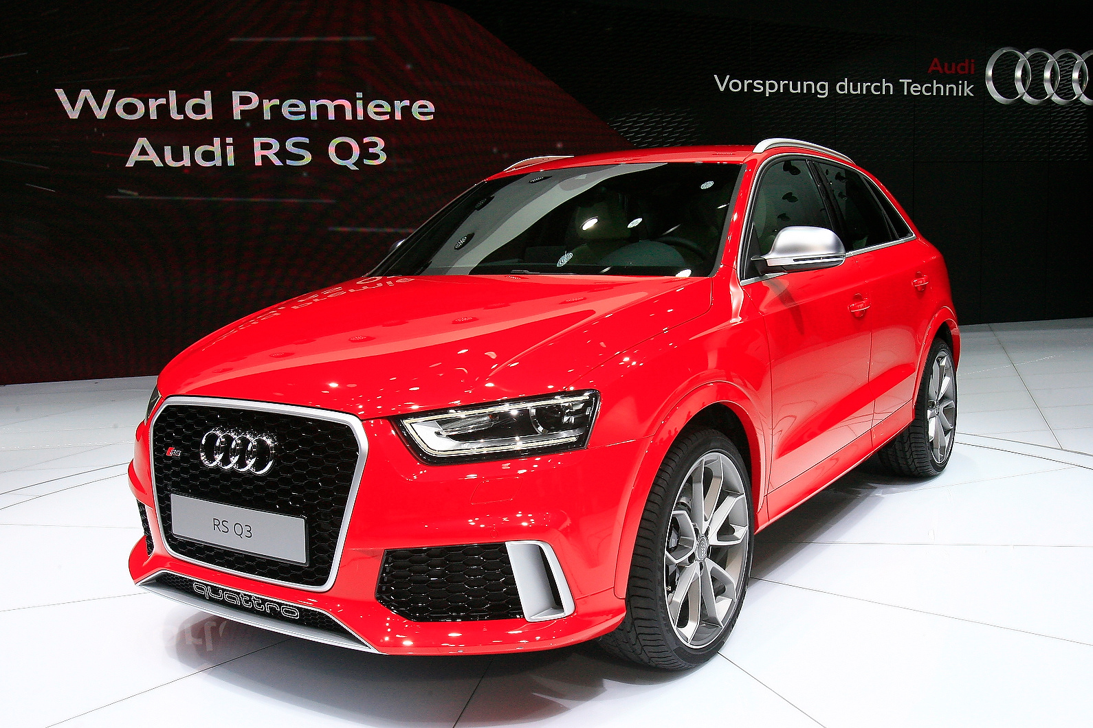 Audi RS Q3 uses 2.5-litre five-cylinder engine from RS3. Output is 306bhp