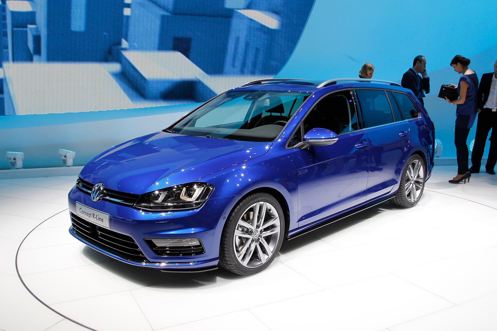 VW unveiled the new Golf GTD at the Geneva show.