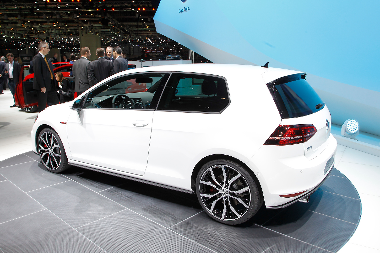 Also on display was the Golf R-Line.