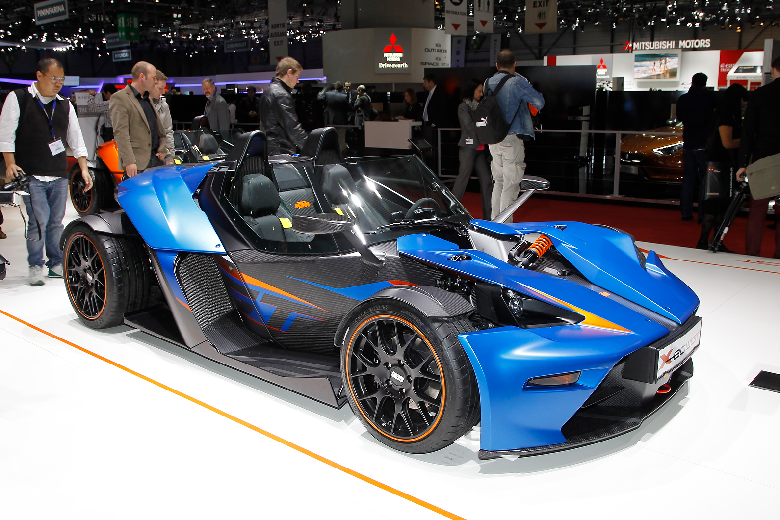 KTM showcased the updated X-Bow.