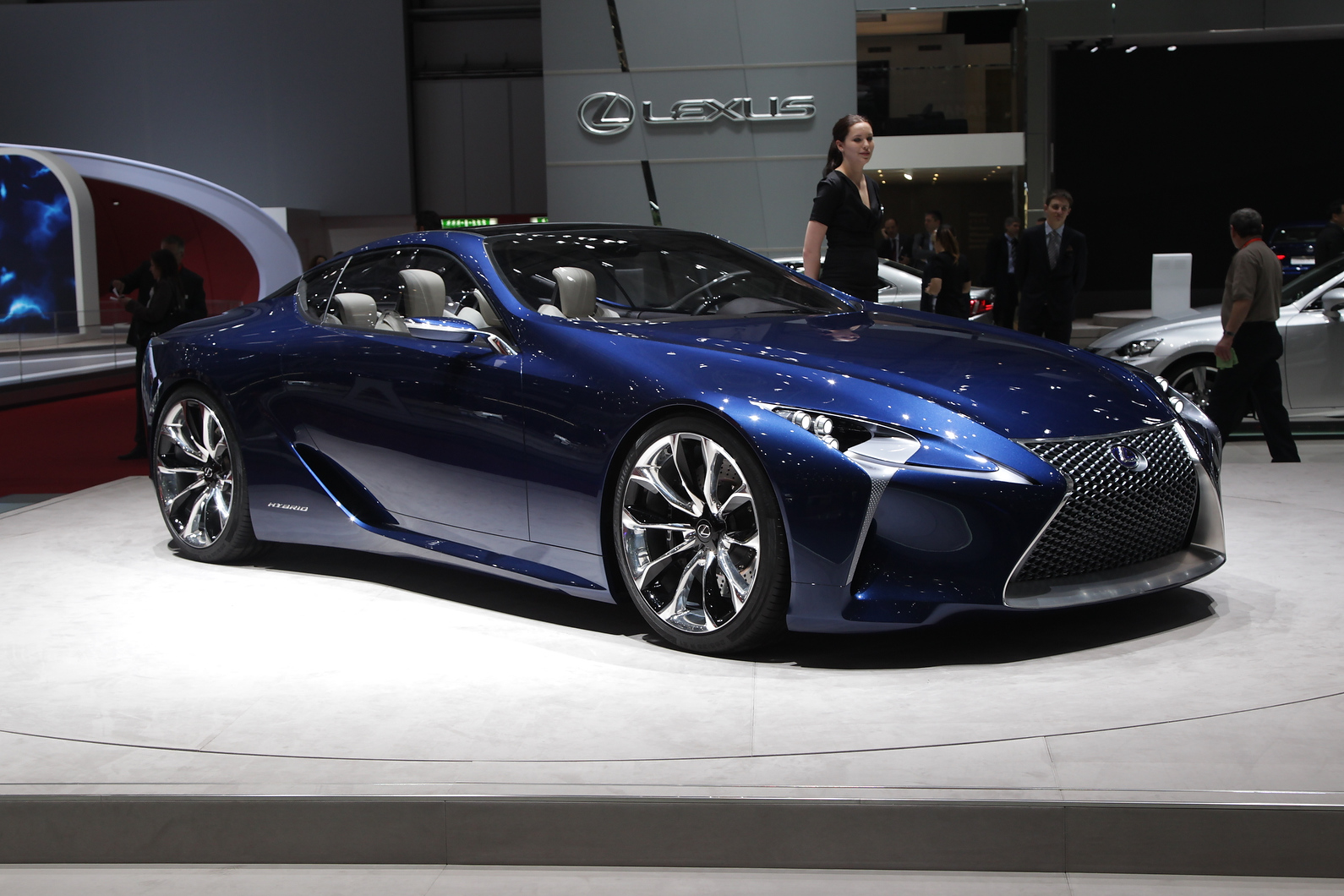 Styling cues of  Lexus LF-CC now found in new IS. Could inspire an Audi A5 rival