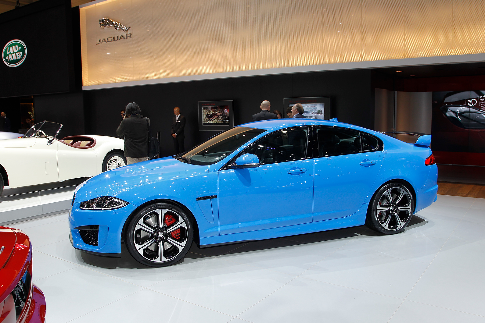 Jaguar showcased the new XFR-S at the Geneva Show.