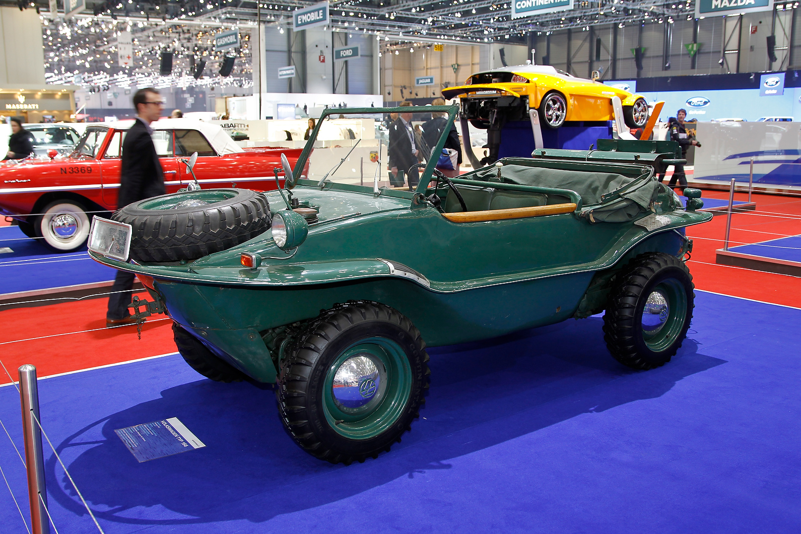 In the outer halls is this early VW, the amphibious Schwimmwagen Type 166