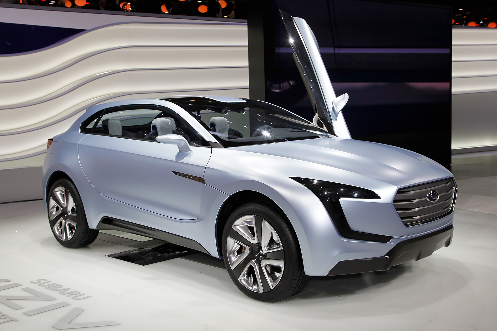 This is the Subaru Viziv concept. It hints at future design language and hybrid powertrain technology for the brand.