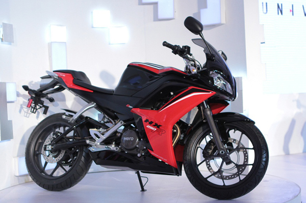 hero s fourth new launch of the year will be the hx250r sports bike