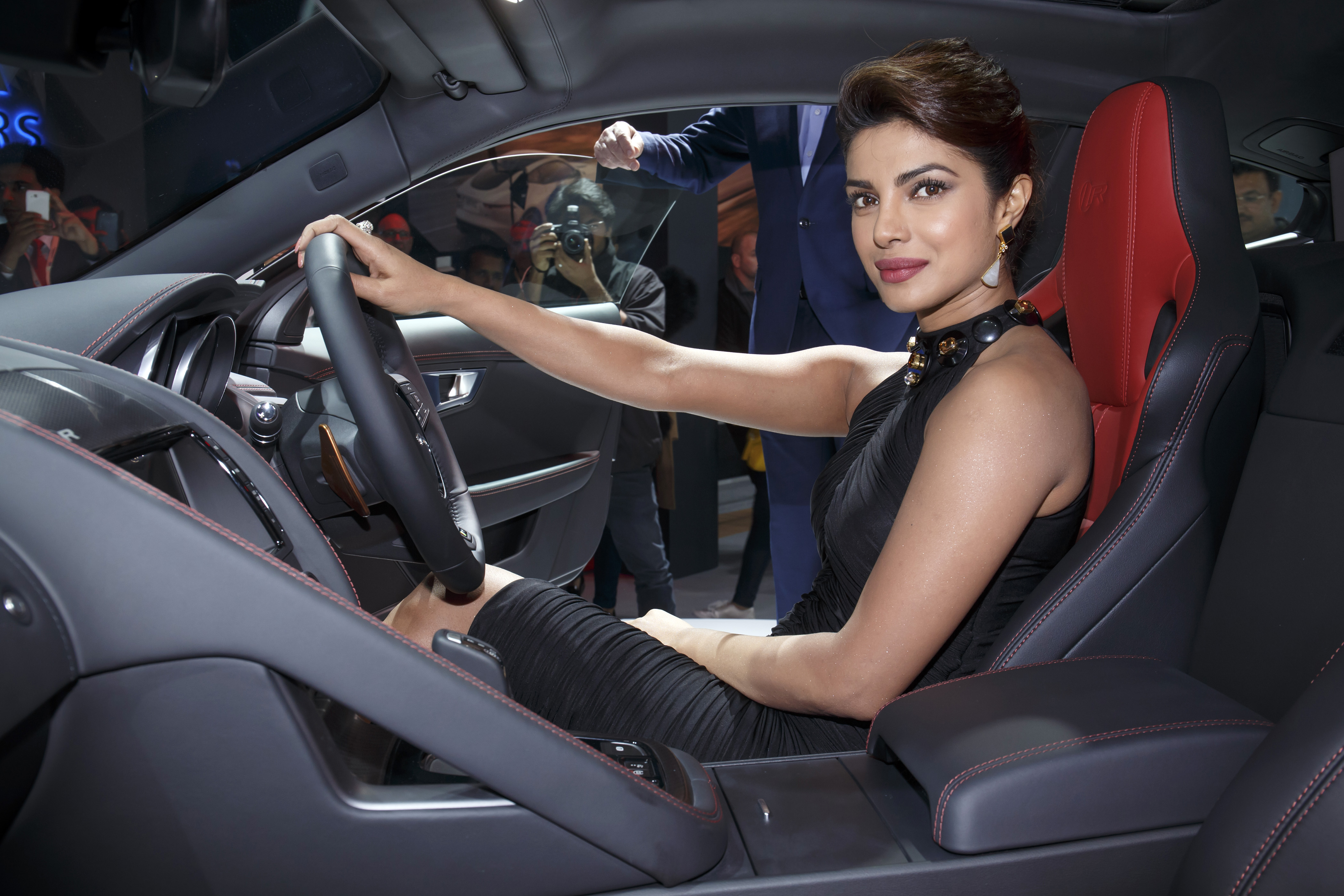 photo of Priyanka Chopra Jaguar F-type - car