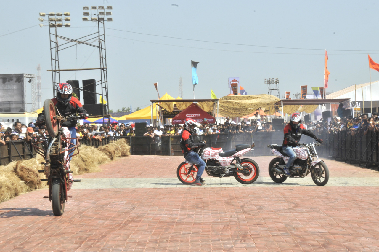 Bikes 2015 India Stunts Finalists from all over India