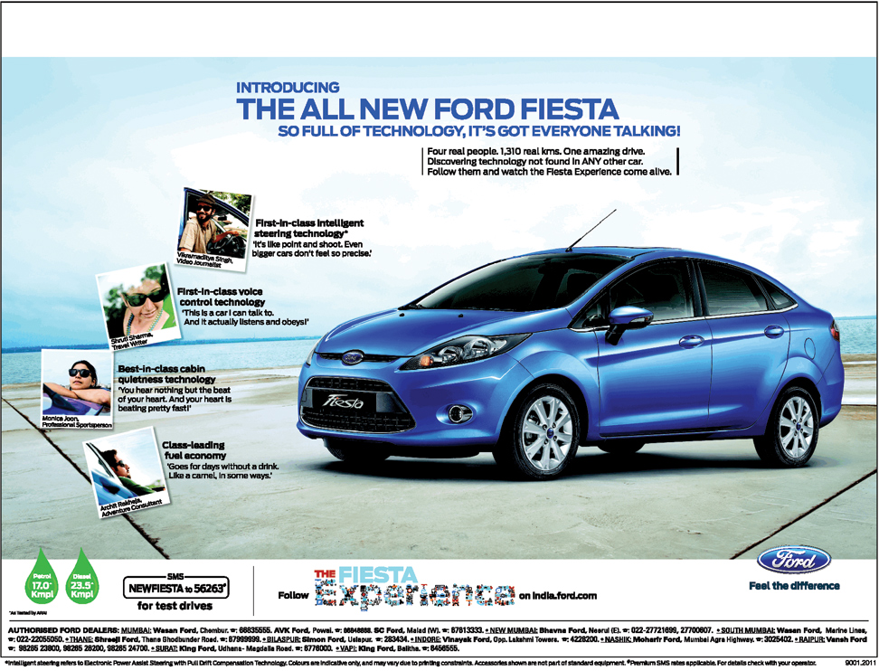 Ford Promotes Real Life Experiences As Part Of Ford Fiesta