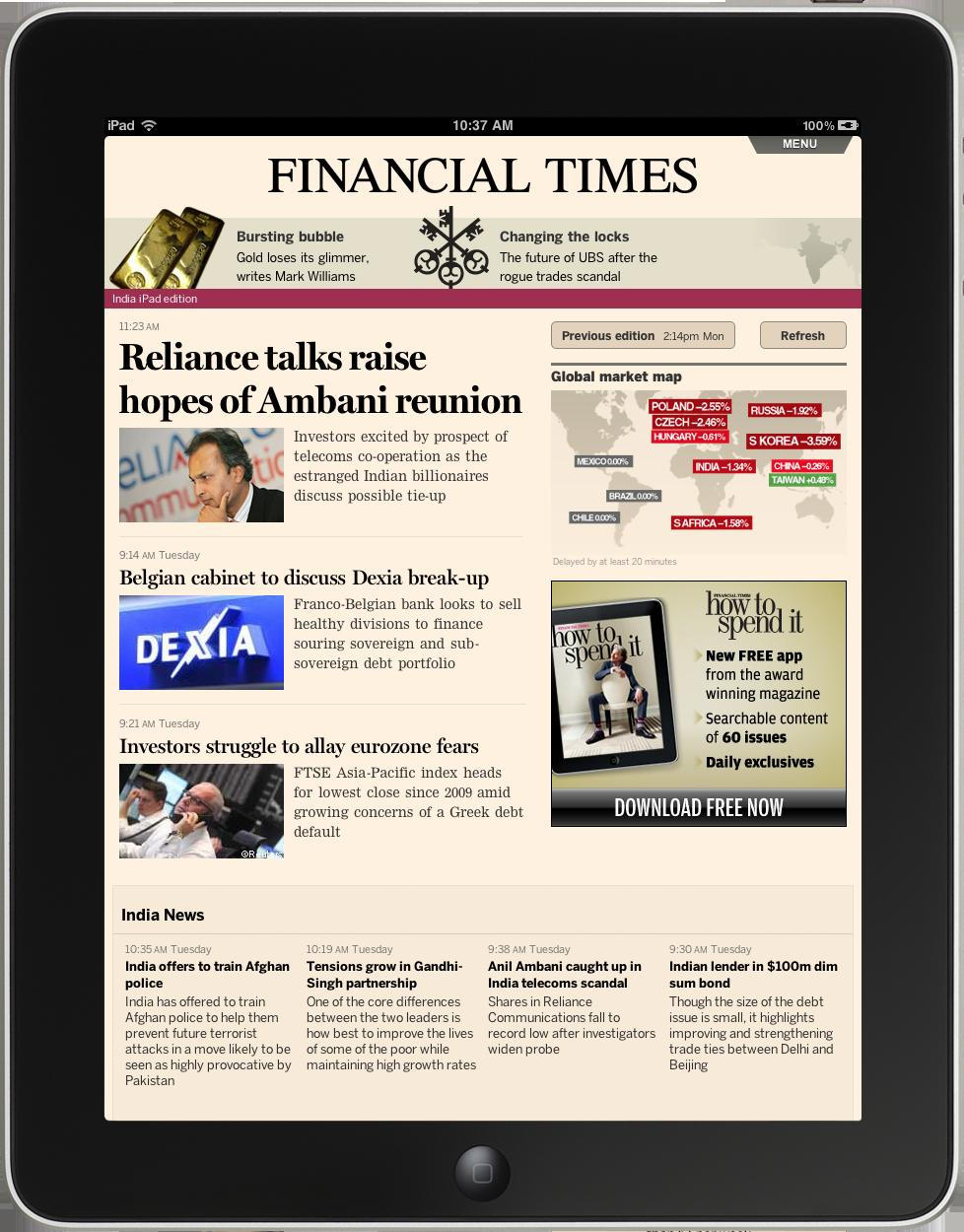 financial times launches mobile apps for india digital