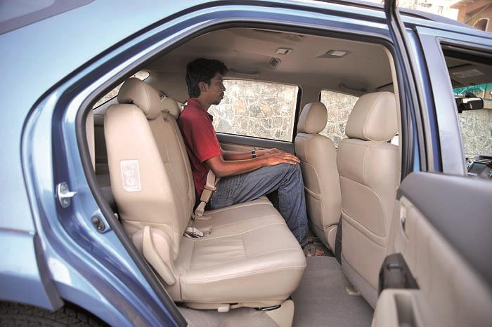 You sit quite high and the rear seats have adequate space, comfortable too.