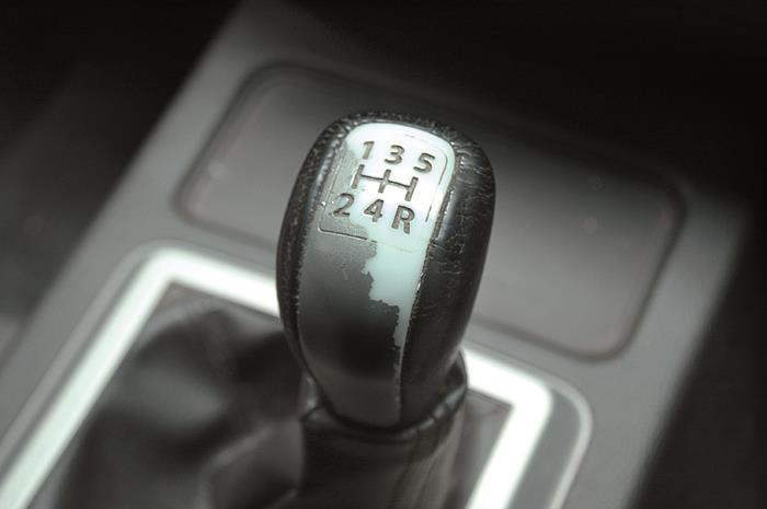 Fading silver finish on gear knob is the first of the quality niggles.