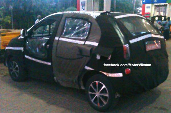 New 2014 Tata Indica Vista facelift spied