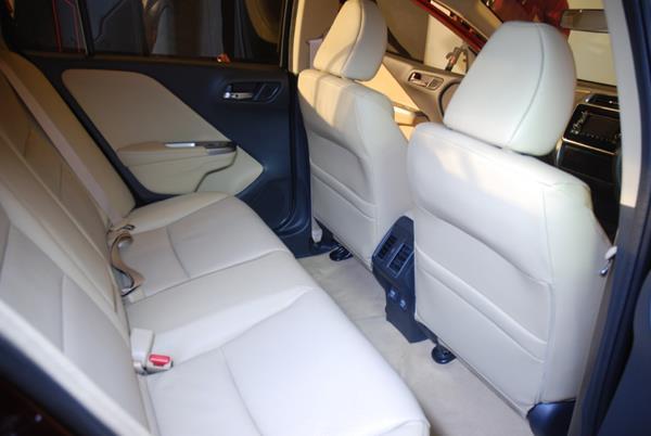 New Honda City rear seat space