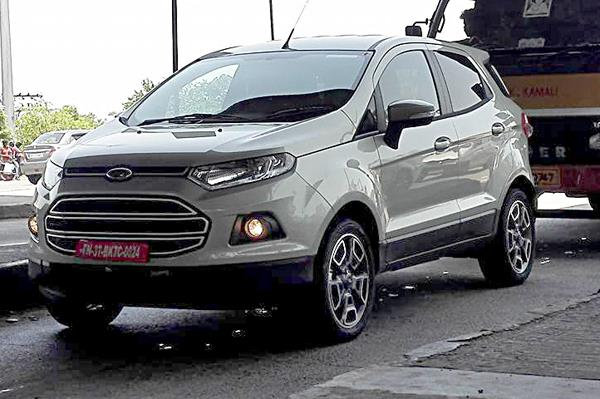 Updated Ford EcoSport spied in India