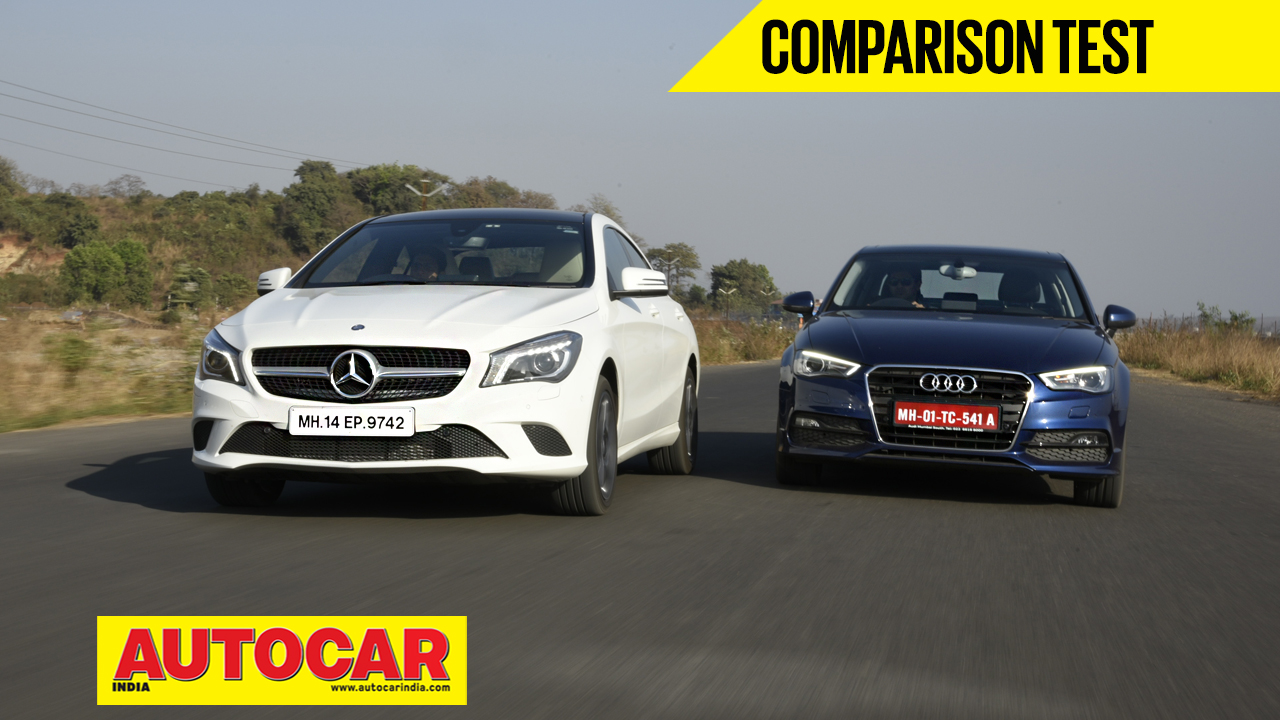 Mercedes benz cla vs audi a3 video comparison cars for Mercedes benz prices in india