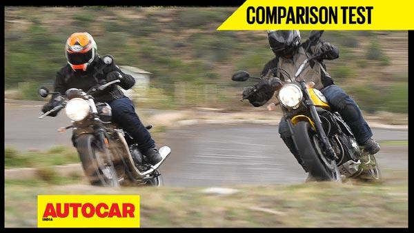 Triumph Bonneville Street Twin vs Ducati Scrambler Icon video comparison