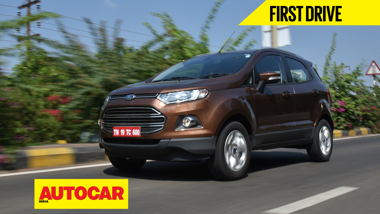 2016 ford ecosport video review cars suv crossovers autocar india. Black Bedroom Furniture Sets. Home Design Ideas