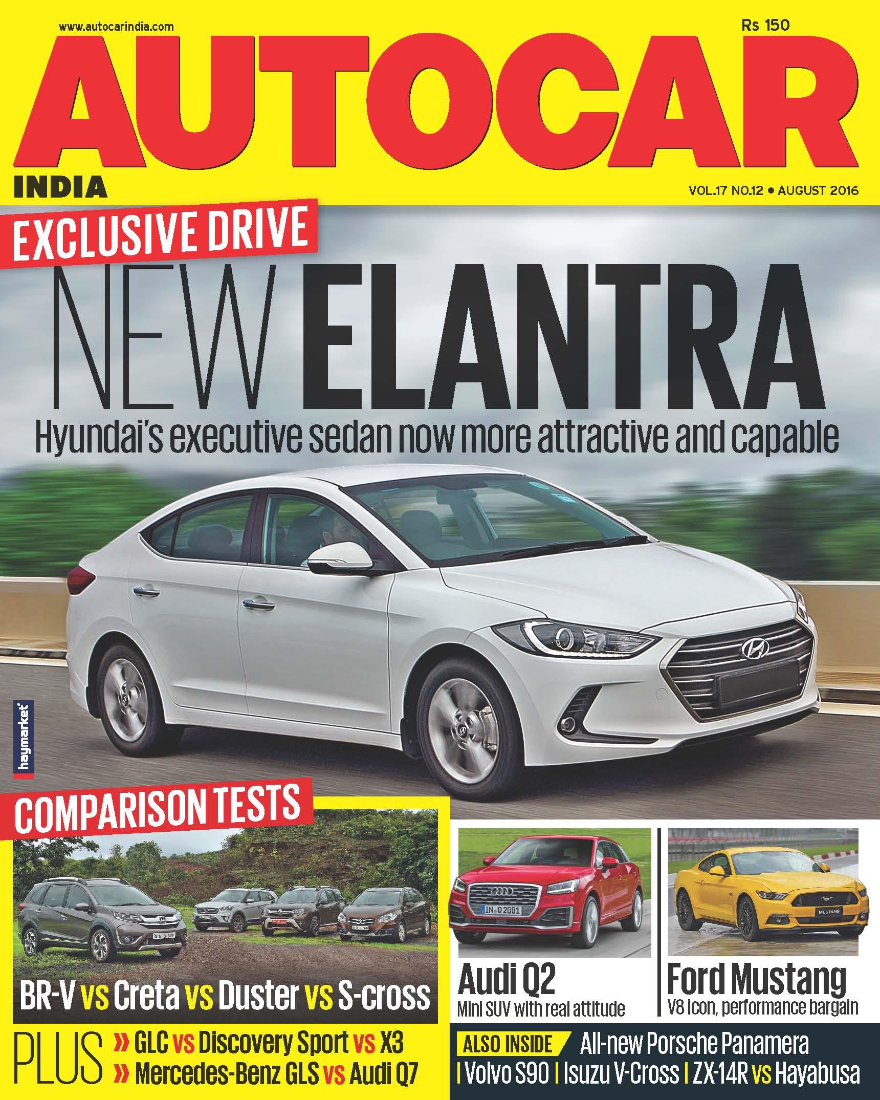 Autocar India Magazine Issue:  Autocar India: August 2016